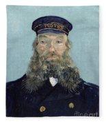Portrait Of Postman Roulin Fleece Blanket