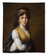 Portrait Of Princess Belozersky Lisabeth Louise Vige Le Brun Fleece Blanket