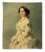 Portrait Of Princess Of Baden Fleece Blanket