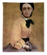 Portrait Of Princess Pauline De Metternich Fleece Blanket by Edgar Degas