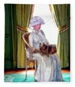 Portrait Of Prudence Fleece Blanket