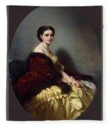 Portrait Of Sophia Petrovna Naryshkina Franz Xavier Winterhalter Fleece Blanket