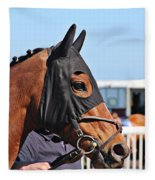 Portrait Of The Horse In The Hood Fleece Blanket