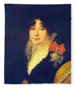 Portrait Of The Princess A Scherbatova 1808 Fleece Blanket
