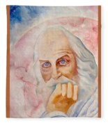 Portrait Of The Us-american Poet Walt Whitman Boris Grigoriev Fleece Blanket