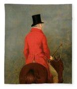 Portrait Of Thomas Cholmondeley Fleece Blanket