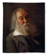 Portrait Of Walt Whitman 1887 Fleece Blanket