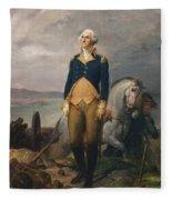 Portrait Of Washington Fleece Blanket
