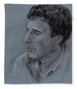 Portrait Of Young Man 19 Fleece Blanket