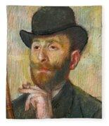 Portrait Of Zacherie Zacharian Fleece Blanket
