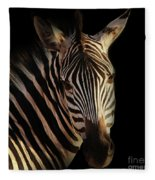 Portrait Of Zebra Fleece Blanket