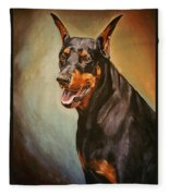Portrait Of Zeus Fleece Blanket