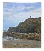 Portreath Cornwall Fleece Blanket