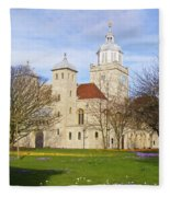 Portsmouth Cathedral In Springtime Fleece Blanket