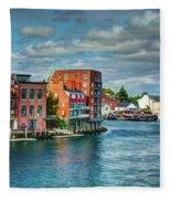 Portsmouth Harbor Fleece Blanket
