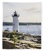 Portsmouth Harbor Light Fleece Blanket