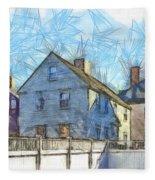 Portsmouth New Hampshire Pencil Fleece Blanket