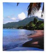 Portsmouth Shore On Dominica Filtered Fleece Blanket