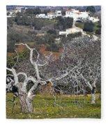 Portuguese Almond Plantation Fleece Blanket