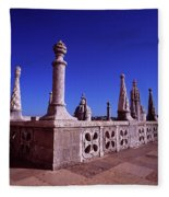 Portuguese Fortress  Lisbon Portugal Fleece Blanket