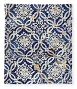 Portuguese Glazed Tiles Fleece Blanket