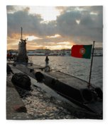 Portuguese Navy Submarine Fleece Blanket