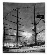 Portuguese Tall Ship Fleece Blanket