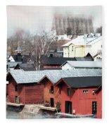 Porvoo Town II Fleece Blanket
