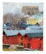 Porvoo Town Fleece Blanket