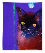 Posh Tom Cat Fleece Blanket