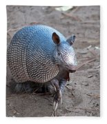 Posing Armadillo Fleece Blanket