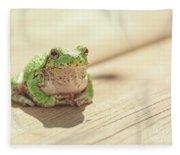 Posing Tree Frog Fleece Blanket