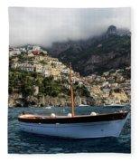 Positano By The Water Fleece Blanket