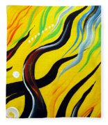 Positive Energy. Abstract Art Fleece Blanket