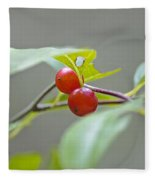 Possum Haw Berries Fleece Blanket