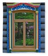 Post Dacha Window Fleece Blanket