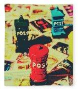 Postage Pop Art Fleece Blanket