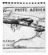 Postage Stamp: Bleriot Fleece Blanket