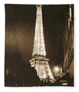 Postcard From Paris- Art By Linda Woods Fleece Blanket