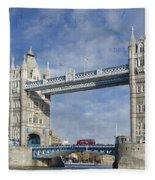 Postcard Home Fleece Blanket