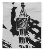 Postcards From Big Ben  Fleece Blanket