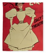 Poster Advertising A Gaiety Girl At The Dalys Theatre In Great Britain Fleece Blanket