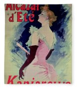 Poster Advertising Alcazar Dete Starring Kanjarowa  Fleece Blanket