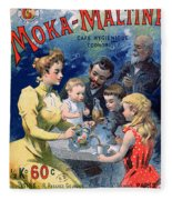 Poster Advertising Moka Maltine Coffee Fleece Blanket