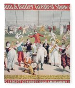 Poster Advertising The Barnum And Bailey Greatest Show On Earth Fleece Blanket