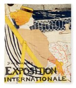 Poster Advertising The Exposition Internationale Daffiches Paris Fleece Blanket