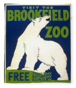Poster For The Brookfield Zoo Fleece Blanket