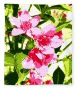 Poster Pink Fleece Blanket
