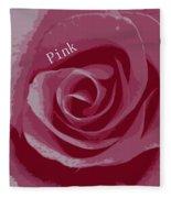Poster Rose Fleece Blanket