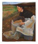 Potatoe Pickers Fleece Blanket